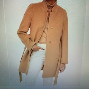 Brand new H&M Tie Belt Coat in felted fabric L